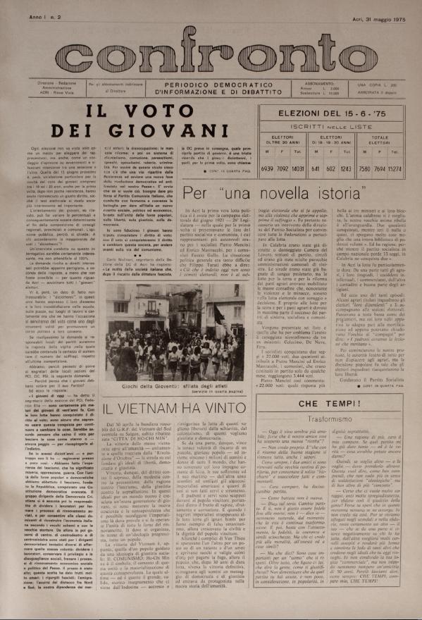 Confronto n°02 del 31 maggio 1975