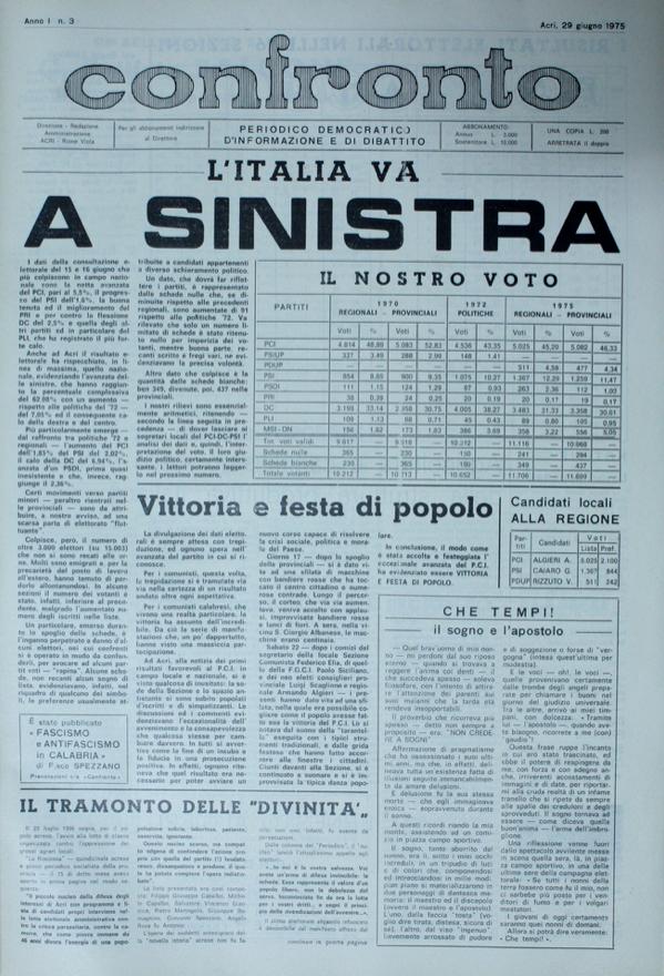 Confronto n°3 del 29 giugno 1975