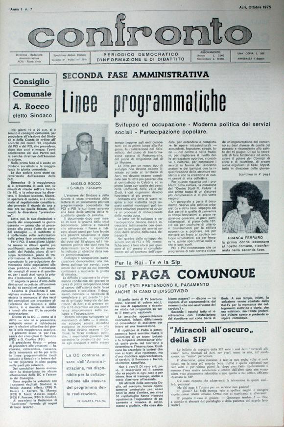Confronto n°7 - Ottobre 1975