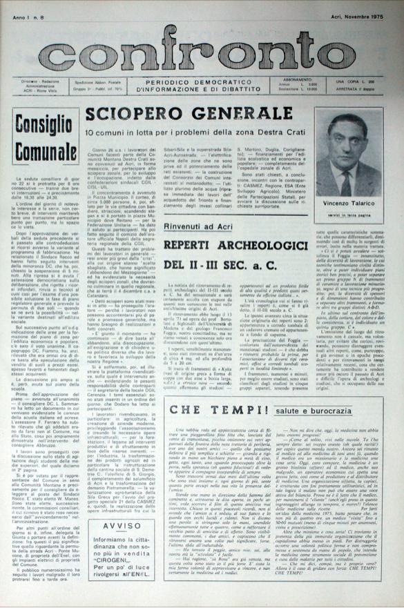 Confronto n°8 - Novembre 1975