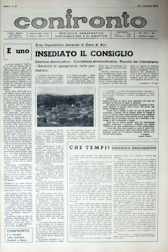 Confronto n°9 - Dicembre 1975
