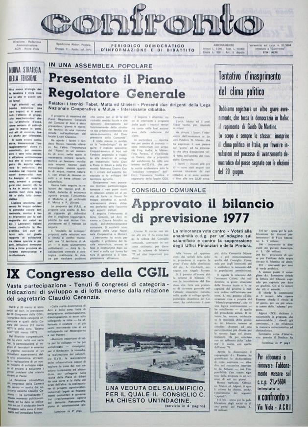 Confronto n°4 del 1977