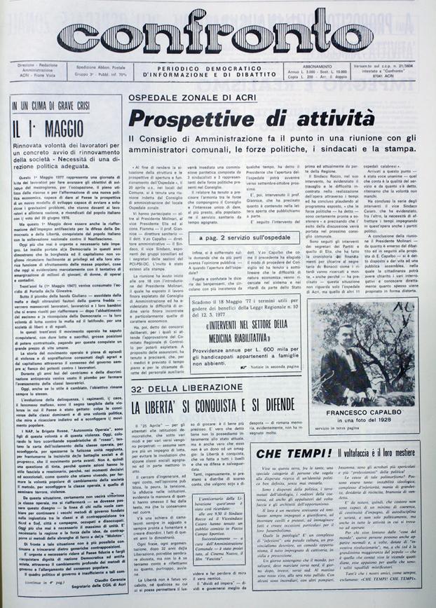 Confronto n°5 del 1977