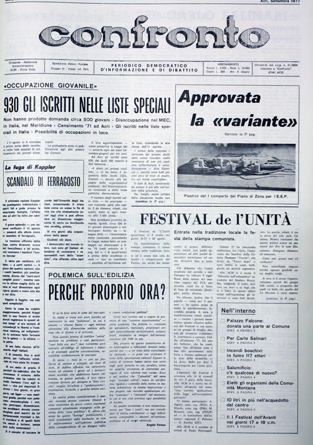 Confronto n°8 del 1977