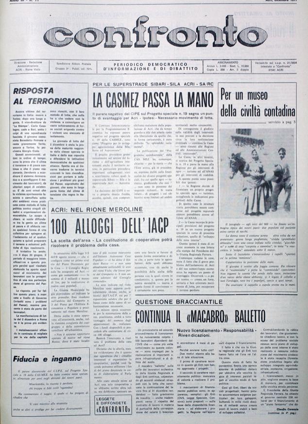 Confronto n°11 del 1977