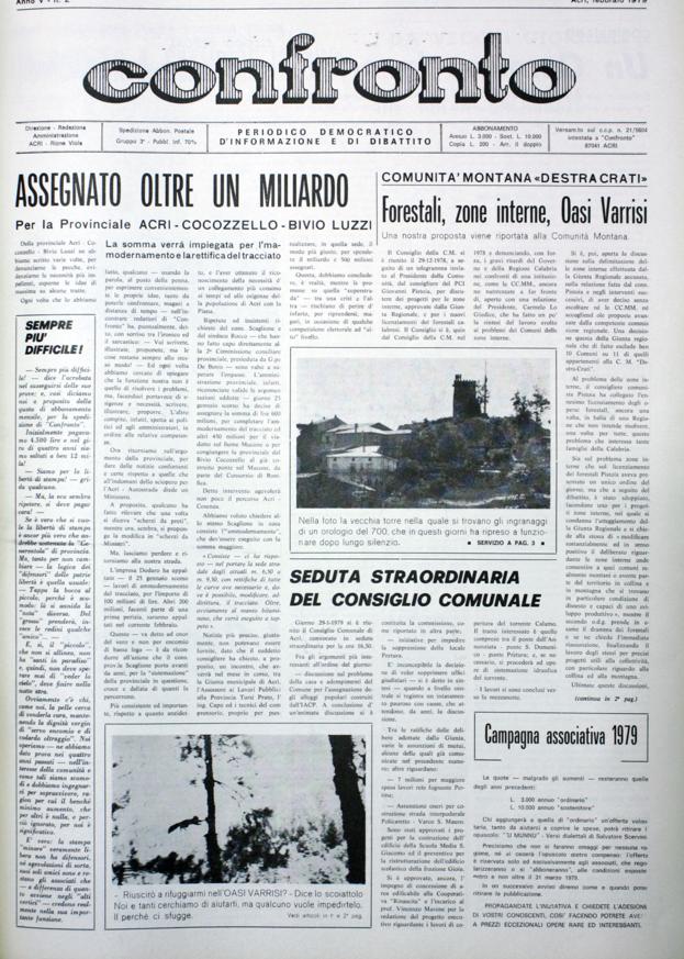 Confronto n°2 del 1979