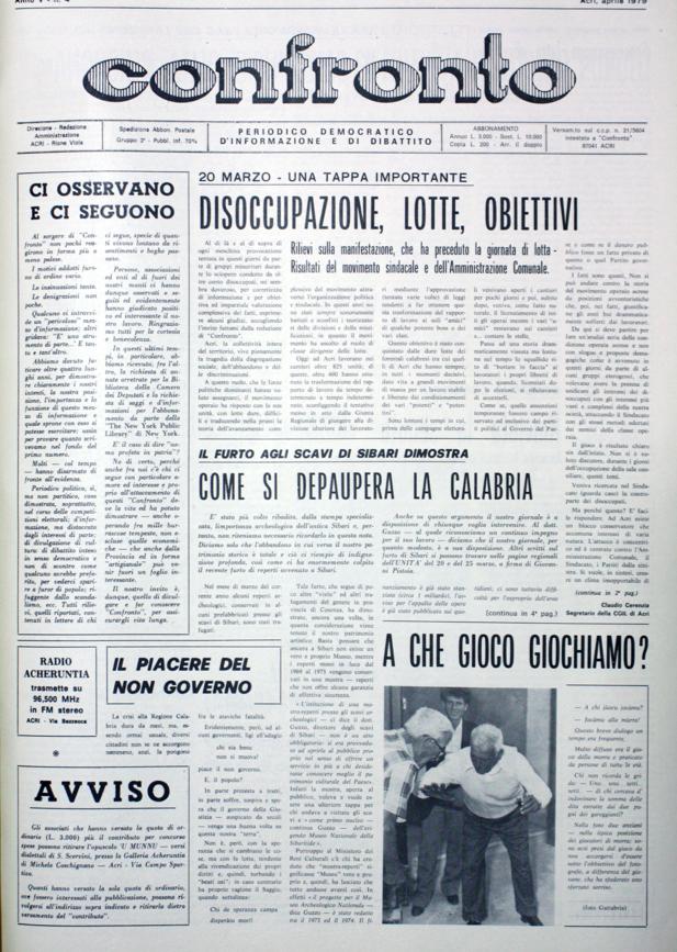Confronto n°4 del 1979