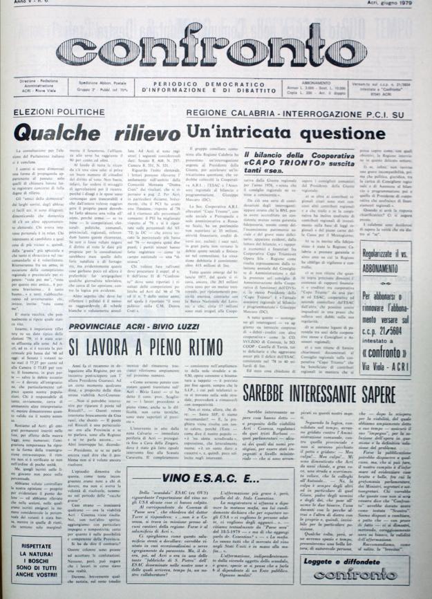 Confronto n°6 del 1979