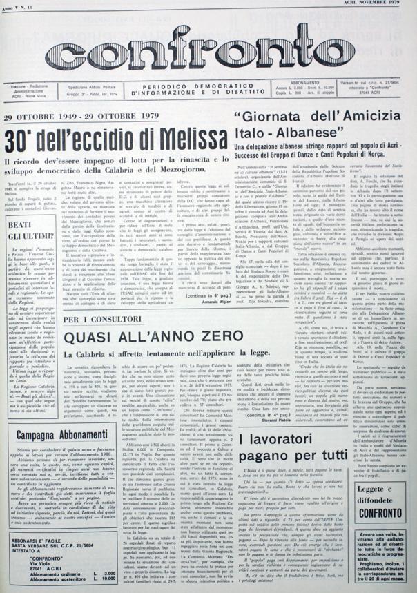Confronto n°10 del 1979