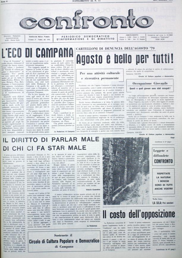 Supplemento di Confronto n°12 del 1979