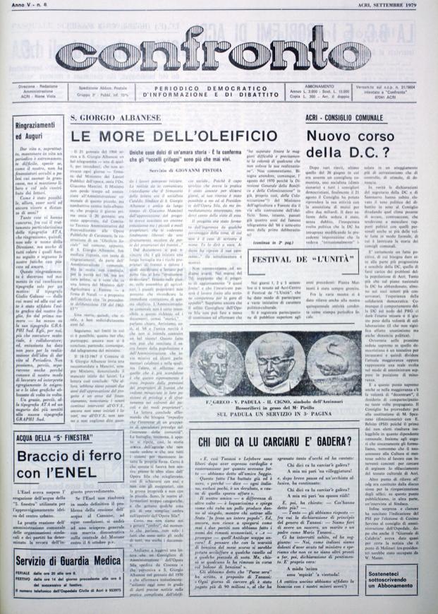 Confronto n°8 del 1979