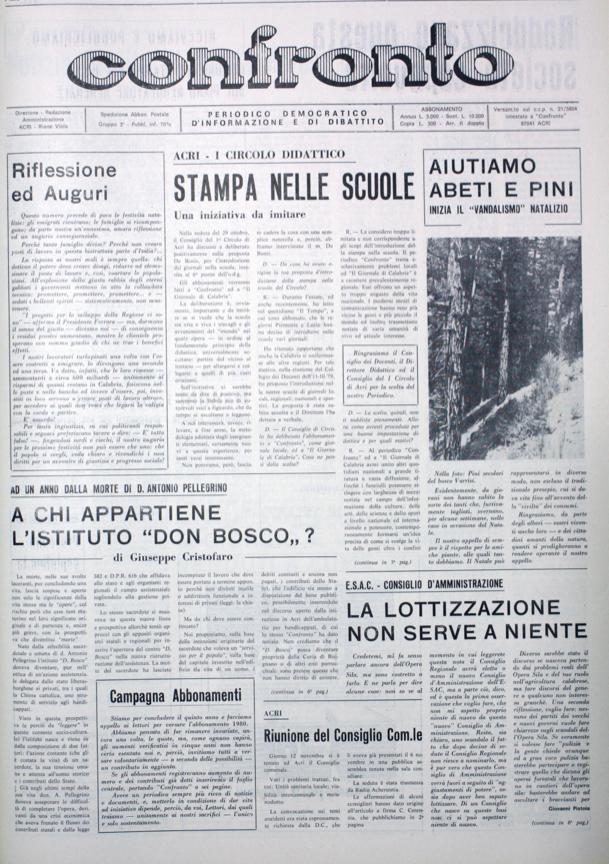 Confronto n°12 del 1979