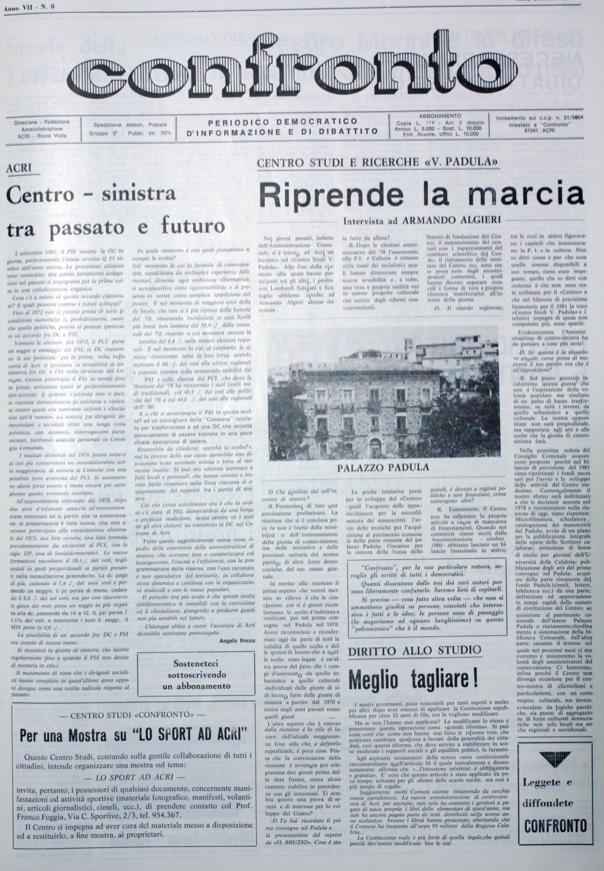 Copertina Confronto 1981