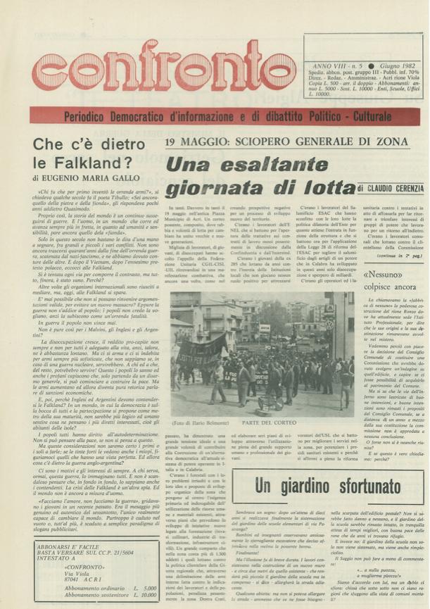 Confronto n°5 del 1982