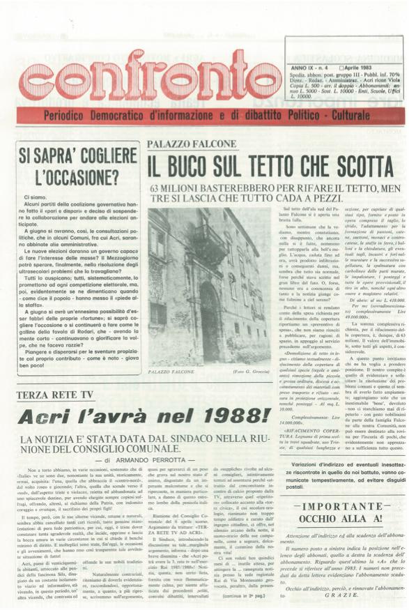 Confronto n°4 del 1983