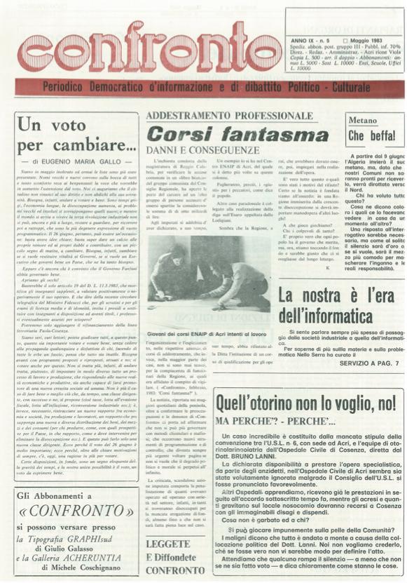 Confronto n°5 del 1983
