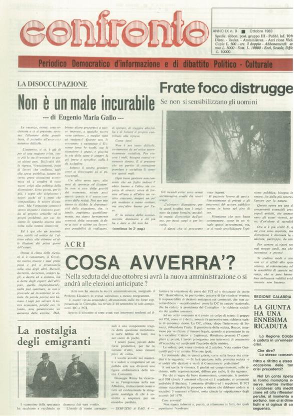 Confronto n°9 del 1983