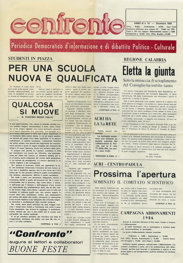 Confronto n°10 del 1985