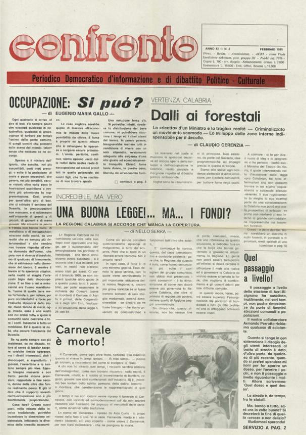 Confronto n°2 del 1985