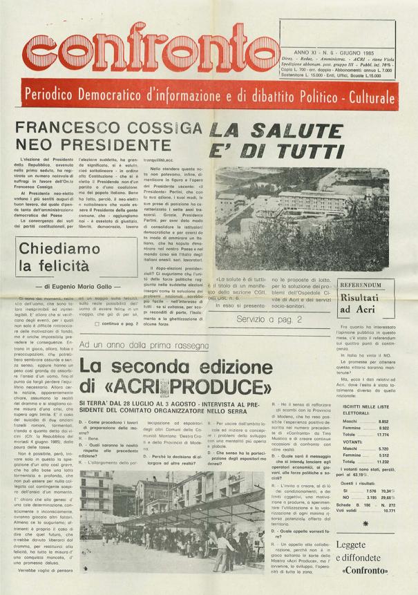 Confronto n°6 del 1985