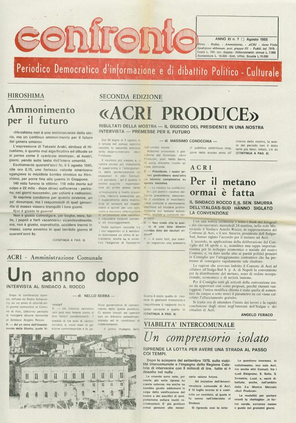 Confronto n°7 del 1985