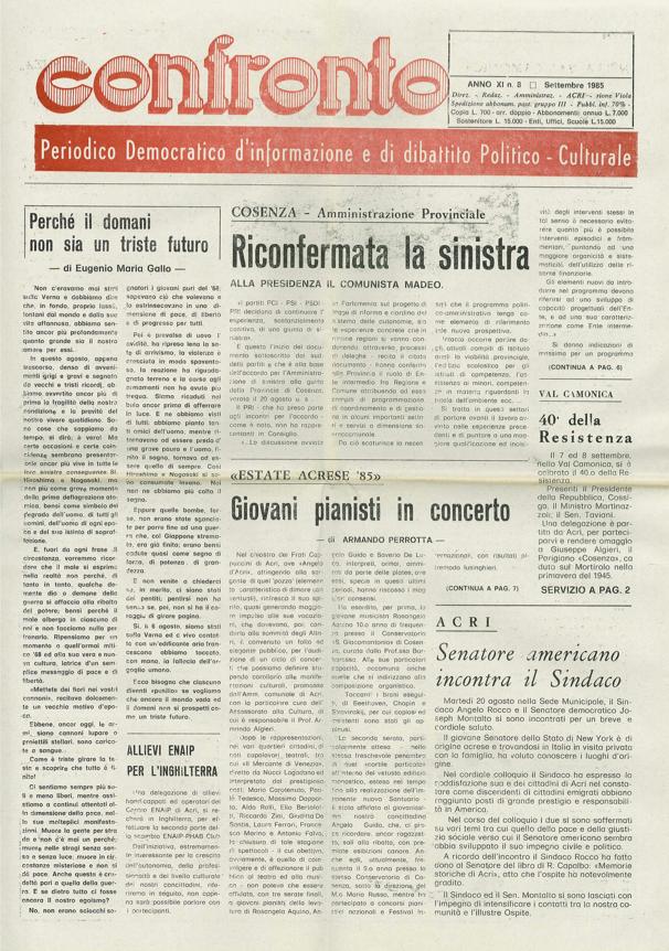 Confronto n°8 del 1985