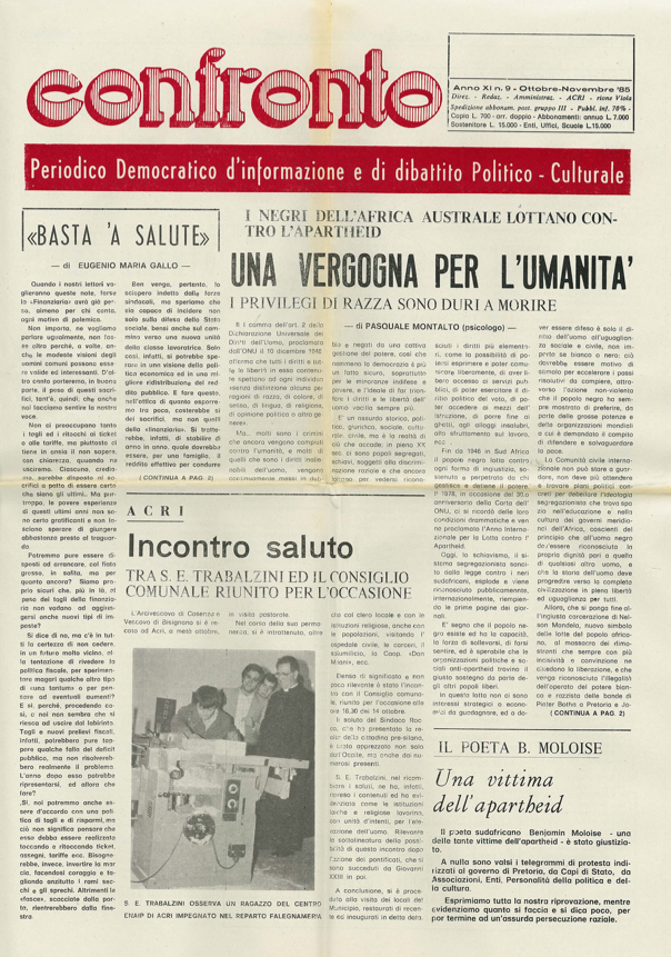 Confronto n°9 del 1985