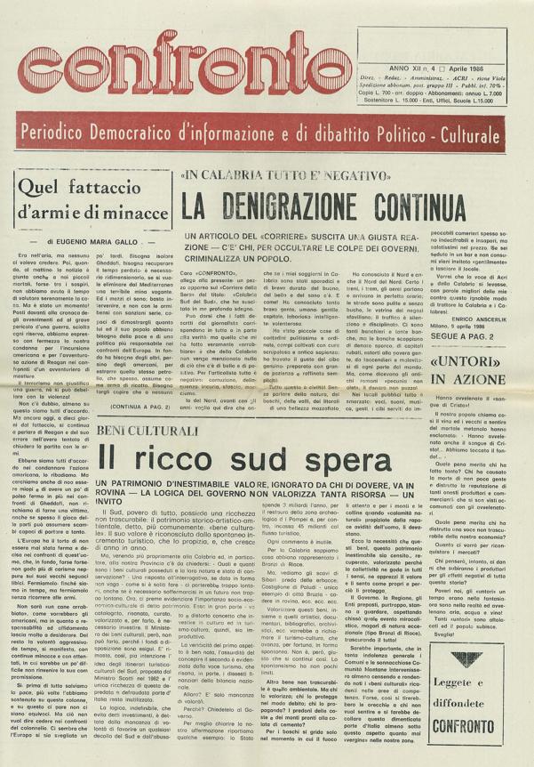 Confronto n°4 del 1986