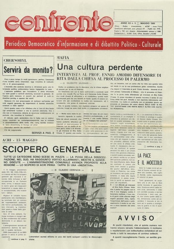 Confronto n°5 del 1986