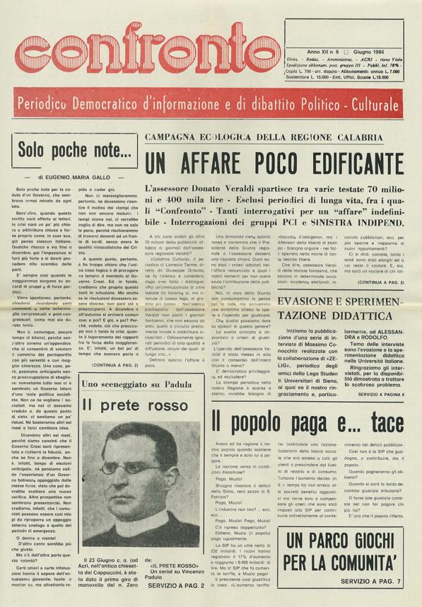 Confronto n°6 del 1986