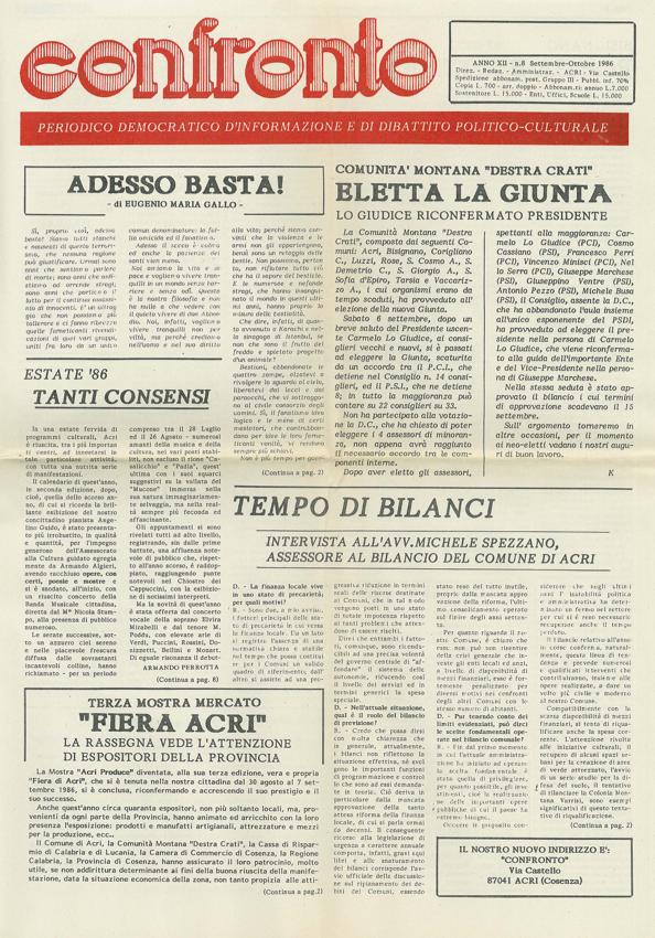 Confronto n°7 del 1986