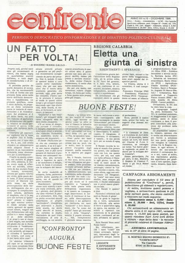 Confronto n°9 del 1986