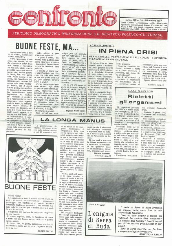 confronto n°10 del 1987