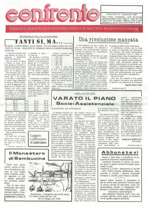 confronto n°9 del 1987