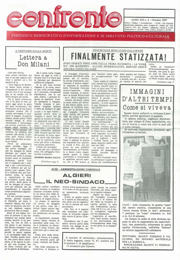 confronto n°8 del 1987