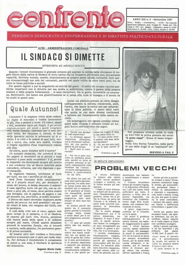 confronto n°7 del 1987