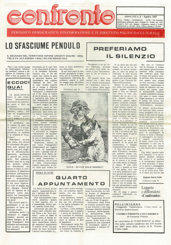 Confronto n°6 del 1987