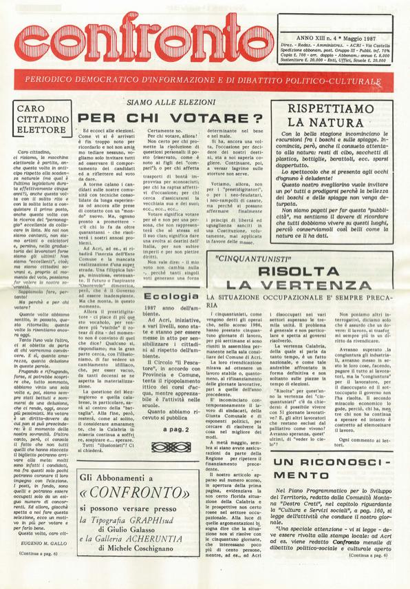 confronto n°4 del 1987
