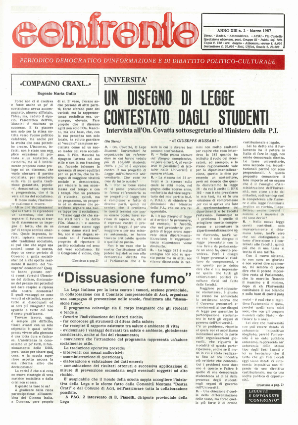 confronto n°2 del 1987