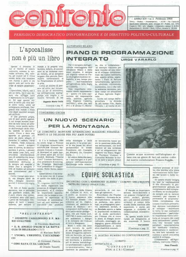 Confronto n°2 del 1988