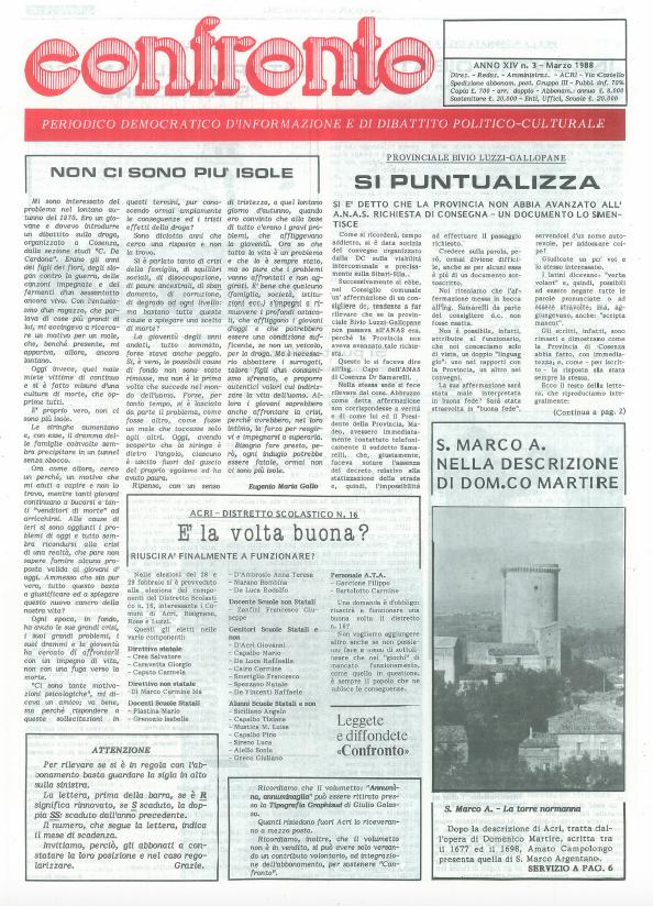 Confronto n°3 del 1988