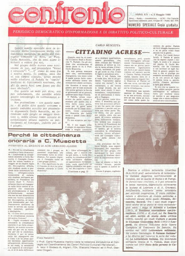 Confronto n°5 del 1988