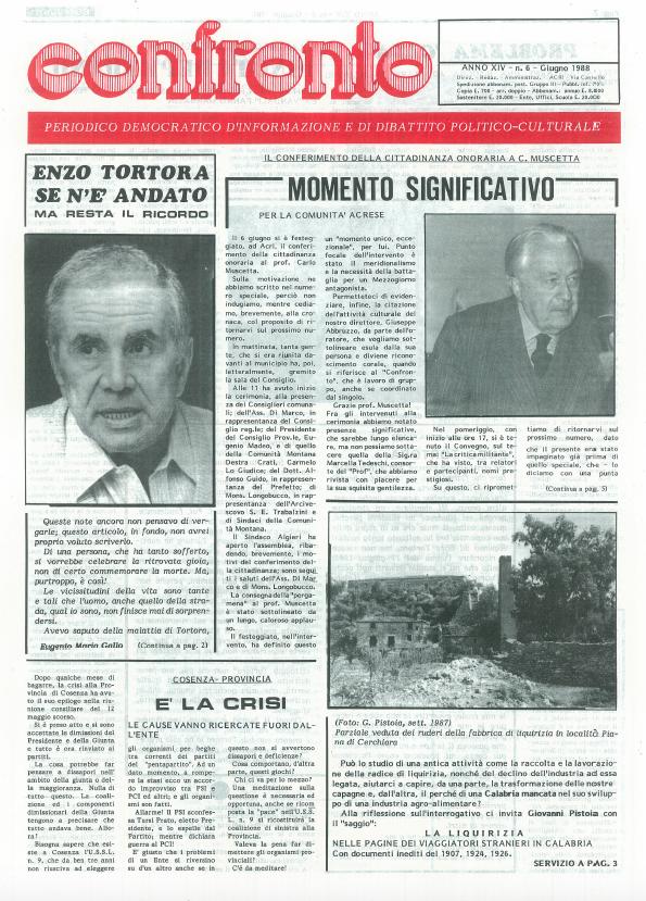 Confronto n°6 del 1988
