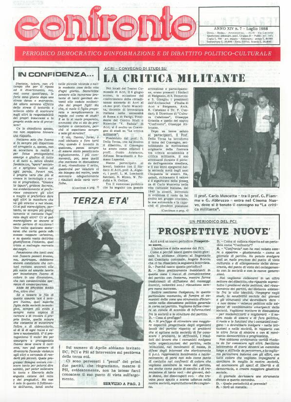 Confronto n°7 del 1988