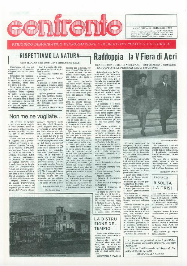 Confronto n°8 del 1988