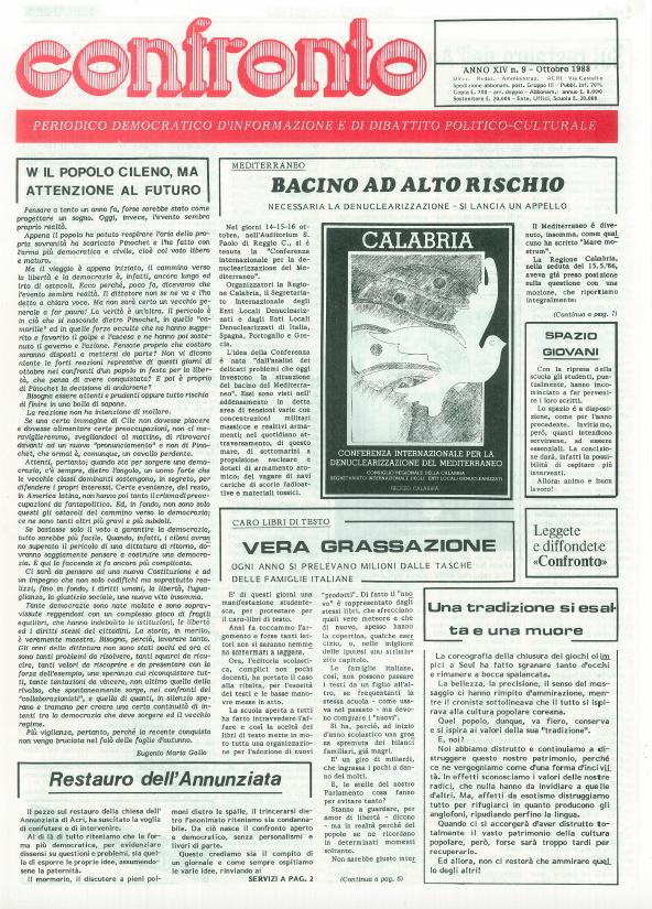 Confronto n°9 del 1988