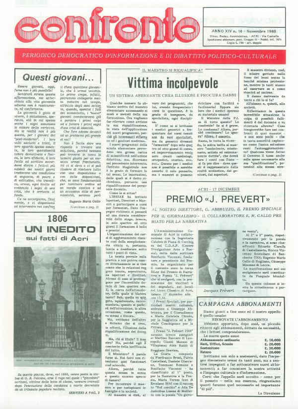 Confronto n°10 del 1988