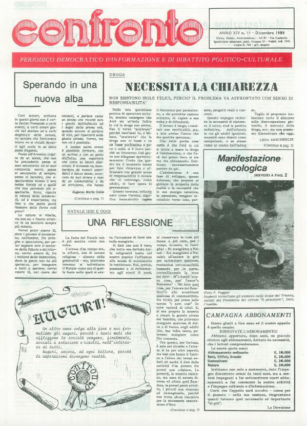 Confronto n°11 del 1988