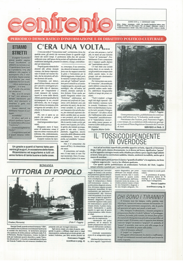 Confronto n°1 del 1990