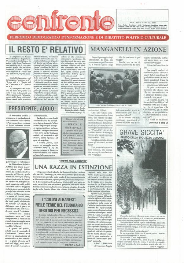 Confronto n°3 del 1990